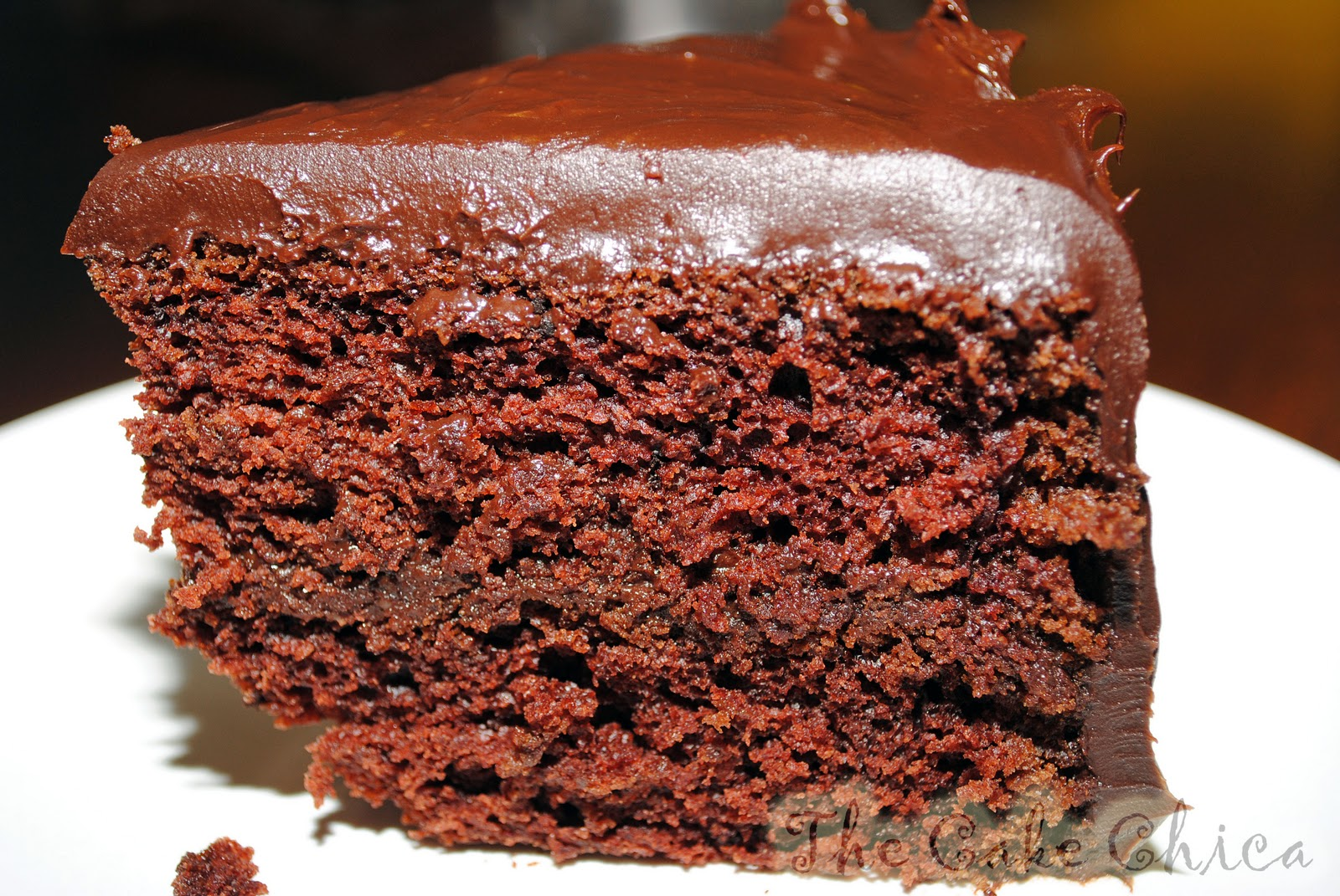Old Fashioned Sour Cream Chocolate Fudge Cake With Icing Recipe
