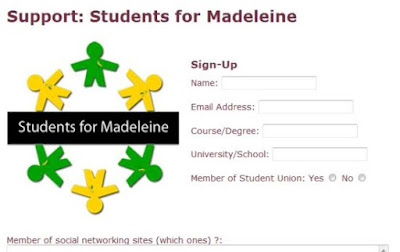 Another McScam: McCanns wanted students' private and personal details 1-7-10supportStudents