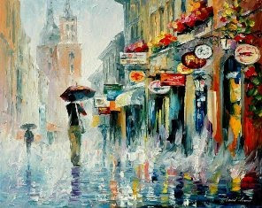 Downpour by Leonid Afremov