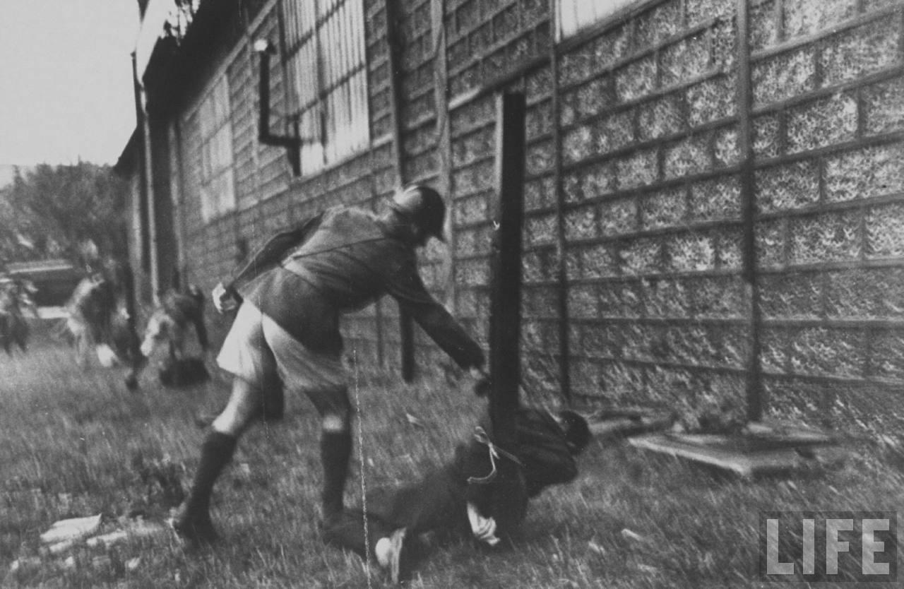 représailles (pendant ou à la fin de la guerre) Execution+of+Nazi+collaborationist+Milice+(Vichy+police)02