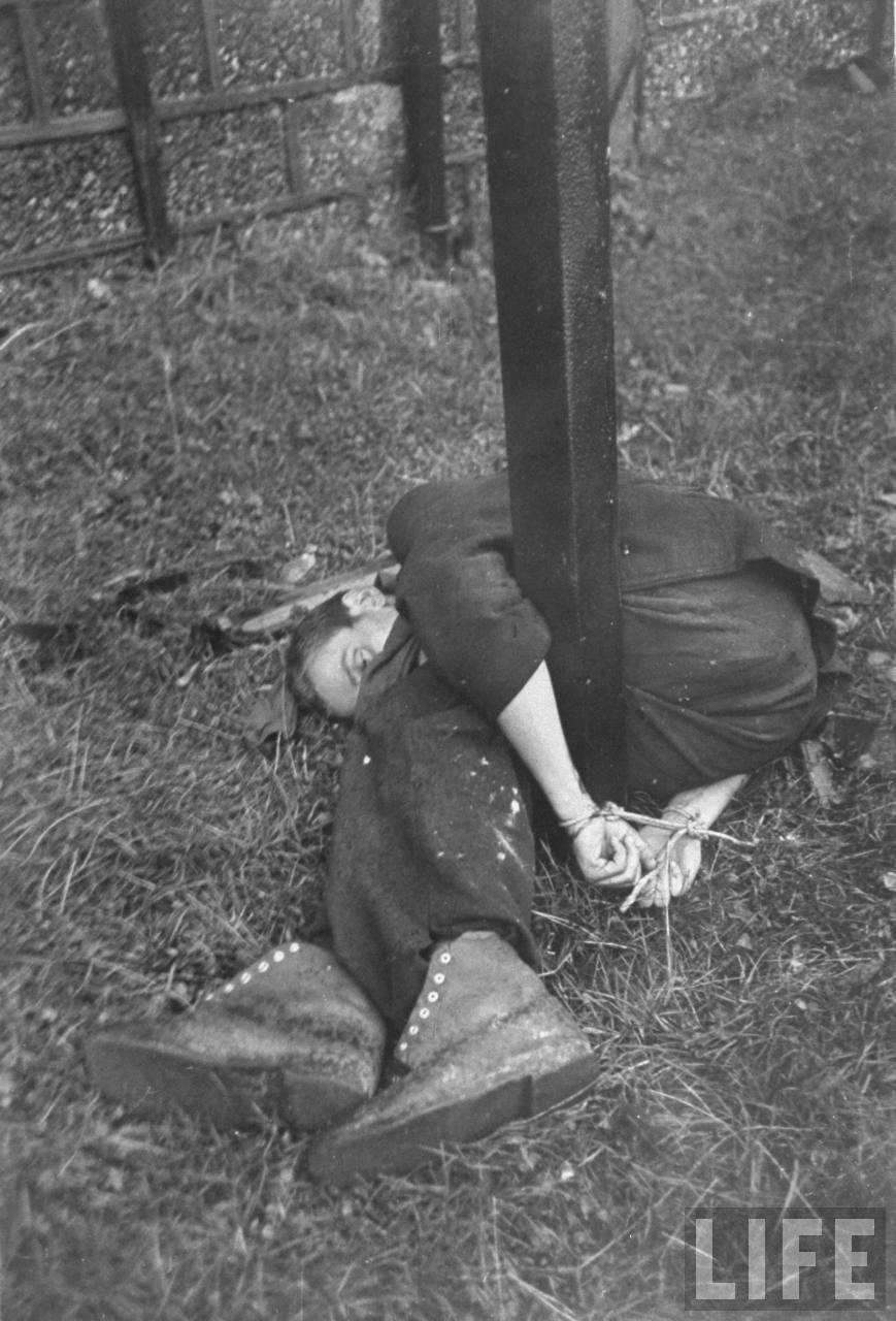 représailles (pendant ou à la fin de la guerre) Execution+of+Nazi+collaborationist+Milice+(Vichy+police)09