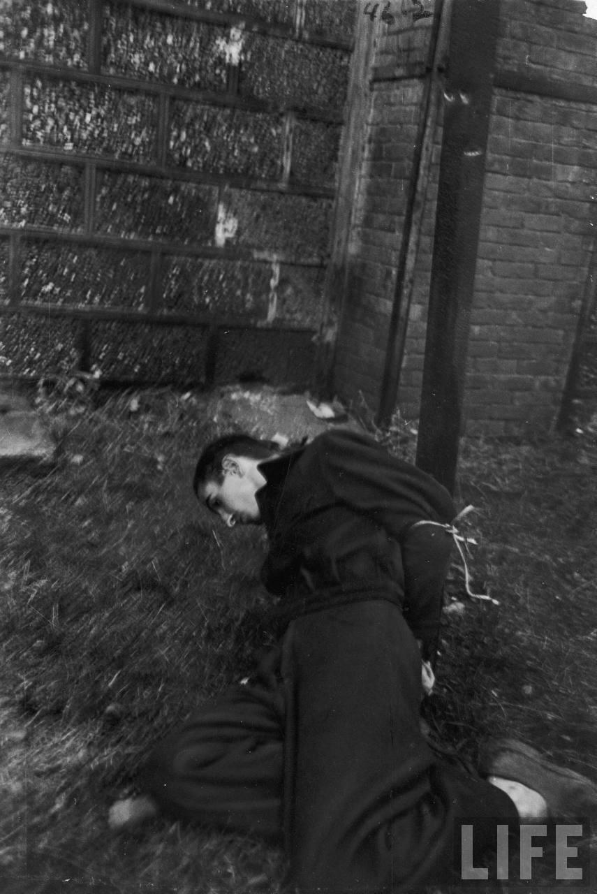 représailles (pendant ou à la fin de la guerre) Execution+of+Nazi+collaborationist+Milice+(Vichy+police)11