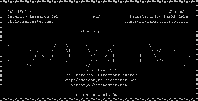 DotDotPwn - The Directory Traversal Fuzzer