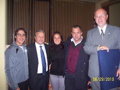 Apaoader junto al vicegobernador José Lauritto