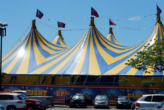 If you read my prior blog post I asked if you could guess what my husband and I went to see under this tent at Coney Island in Brooklyn New York over ... & Mille Fiori Favoriti: Coney Island