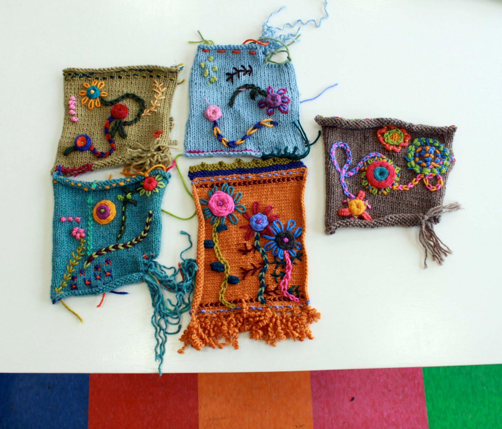 Knitting Embroidery Lessons : Kristin nicholas designs knitting patterns