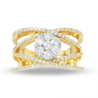 Endless Diamonds Crossover Ring