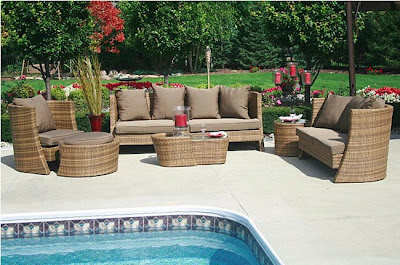 Wicker Bedroom Furniture Sets on Soho All Weather Wicker 6 Piece Patio Set