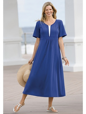 Layered look empire knit plus size dress