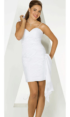 Short White Graduation Dress