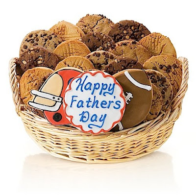Happy Fathers Day Football Gift Basket