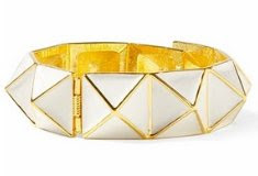 Kenneth Jay Lane Enamel One Row Geometric Bracelet
