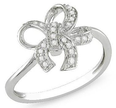 Diamond Accent Bow Ring