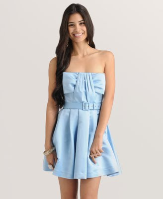 Pleated Bow homecoming Dress