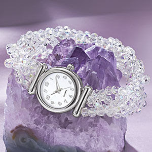 Silverplated Crystal women Watch