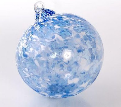 First Snow glass ornament