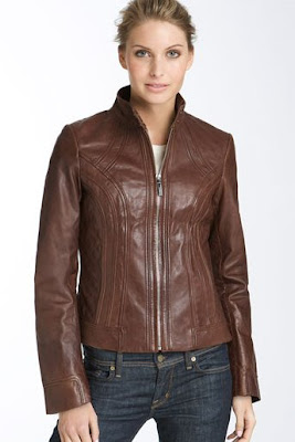 Bernardo Curved Seam women Leather Jacket