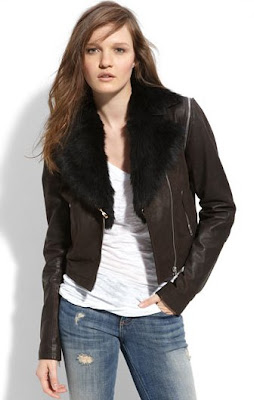 Sara Berman Leather Motorcycle Jacket