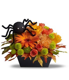 Creepy Halloween flowers