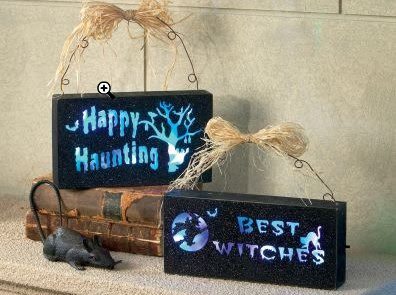 Lighted Halloween Signs