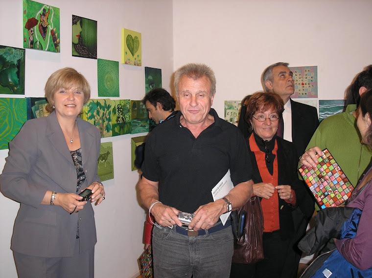Expositores Marika Corti y Arnoldo Gualino