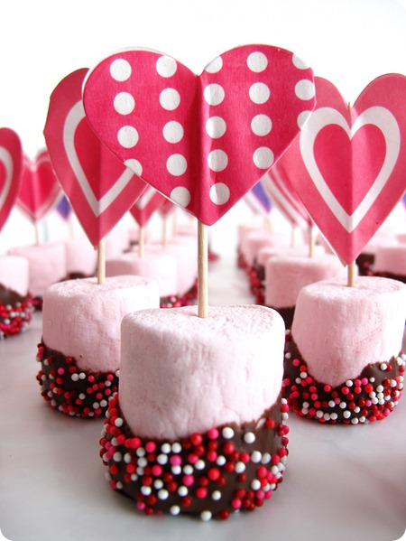 Marshmallow valentines treats