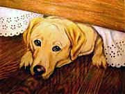 Pet Portraits Yellow Labrador Retriever by Robin Zebley