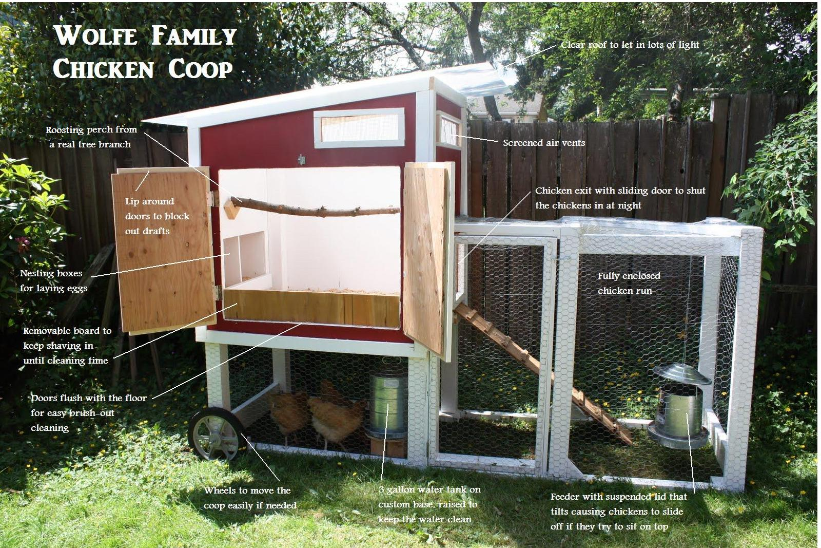 What is emily up to june 2010 for Chicken coop designs for 3 chickens