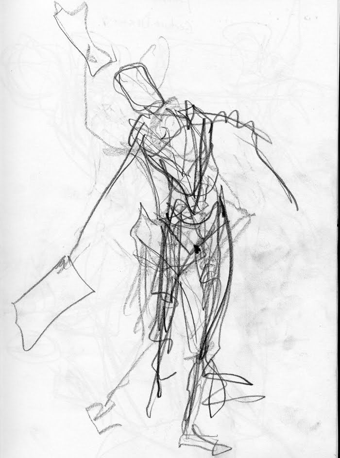 Scribble Gesture Drawing : Gesture of life drawing human proportion male models picture
