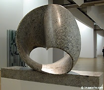 Moebius strip sculpture by Max Bill