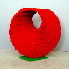 Mathematical Moebius strip LEGO Sculpture