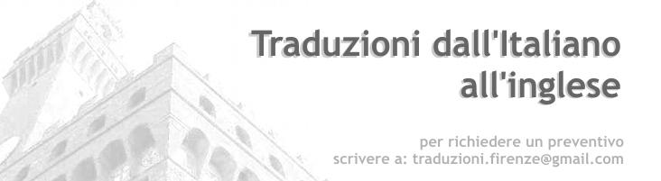 traduzioni dall'italiano all'inglese