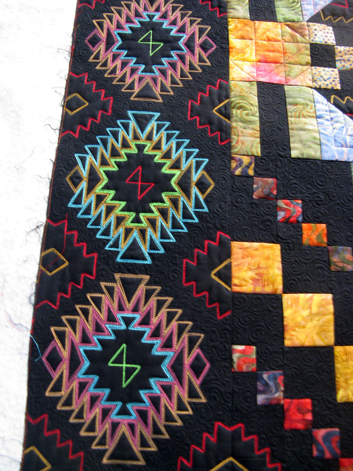 Green Fairy Quilts Navajo Indian Rug Quilt