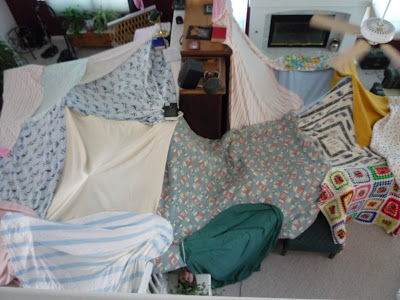 Believing in the everyday blanket tent for How to make a tent in your living room