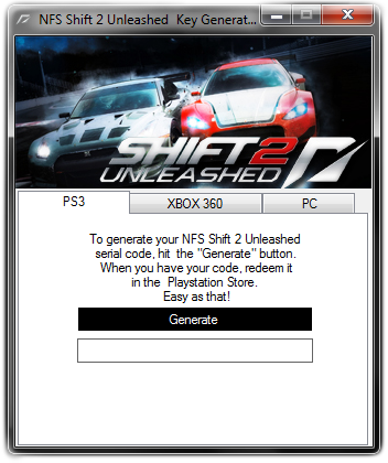 Need For Speed Shift 2 Unleashed Key Generator Crack Download
