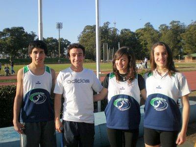 Jovenes atletas necochenses