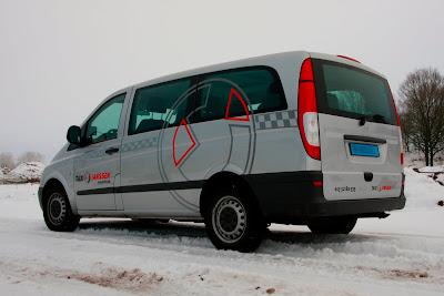 Auto belettering Taxi Janssen