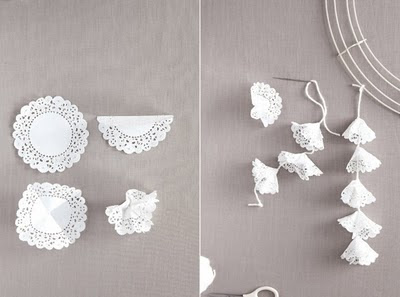 decoracion con blondas de papel