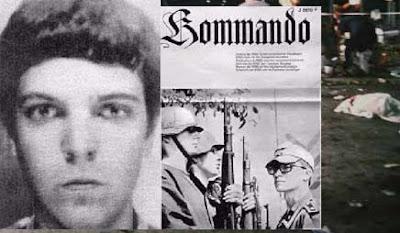 Nazi örgütü Wehrsportgruppe/WSG üyesi Gundolf Köhler Neo-Nazi gazetesinde solda ikinci