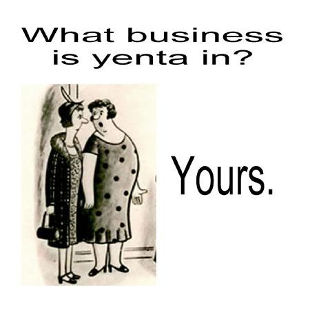 The Little Yenta Politics And Yentas