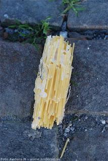 spagetti, pasta, klistrad