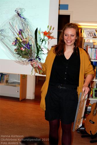 Hanna Karlsson, Olofström, Jämshög, Olofströms kulturstipendium, kulturstipendiat 2010, kulturstipendium för unga Olofströmare, konstfack, foto anders n, anders nilsson