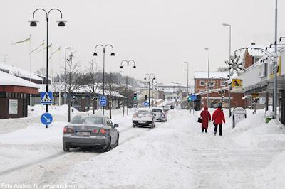 Olofström, Blekinge, snö, vinter, snow, winter, storgatan, nya torget, netto, foto anders n