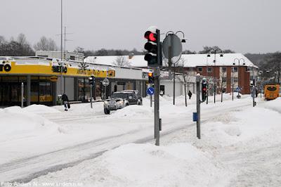 Olofström, Blekinge, snö, vinter, snow, winter, netto, k-marknad, gamla konsum, nya torget, storgatan, foto anders n