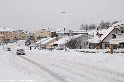 Olofström, Blekinge, snö, vinter, snow, winter, storgatan, foto anders n