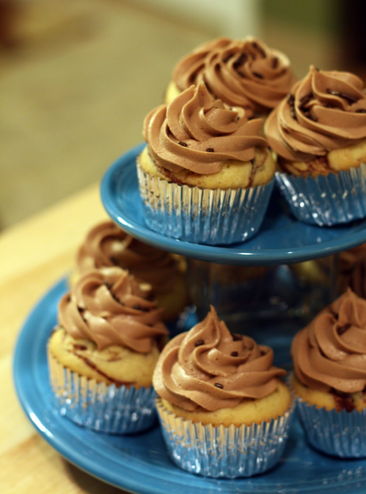 Nutella Cupcakes from The Doctor's Dishes, Desserts & Decor