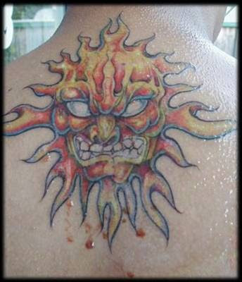 Sun tattoo tattoos used to be taboo, but nowadays they seem to be all