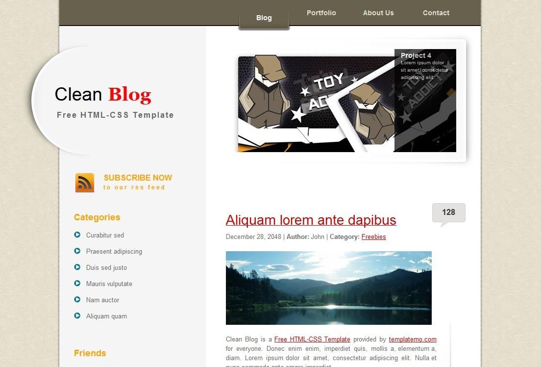 Clean Blogger Templates Clean Blog Blogger Template   Veerublog