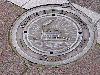 drain cover in front of City Hall, Memphis