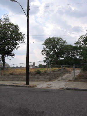The site of the demolished Eureka Hotel, 2 years after its demolition